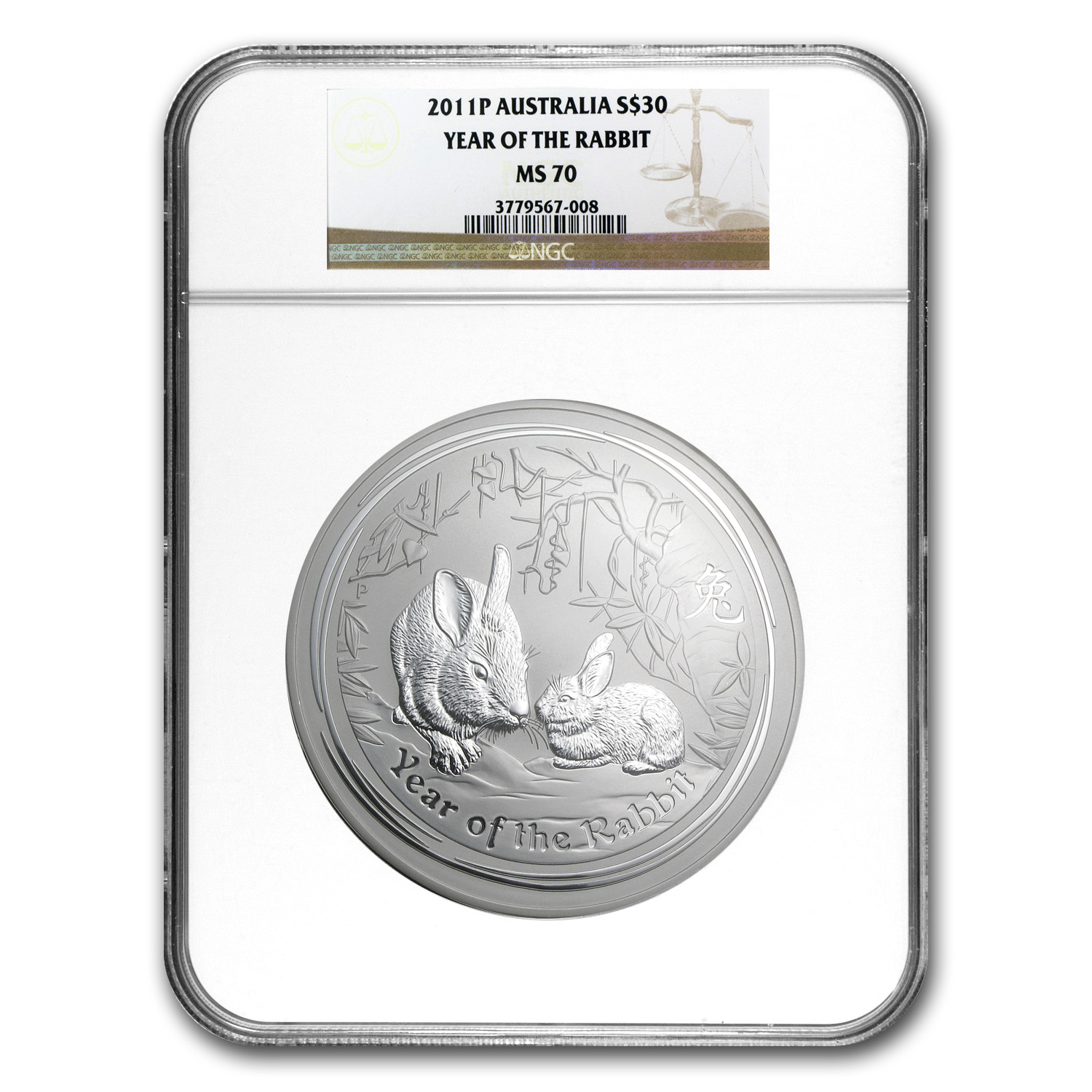 2011 1 Kilo Silver Australian Year of the Rabbit MS-70 NGC